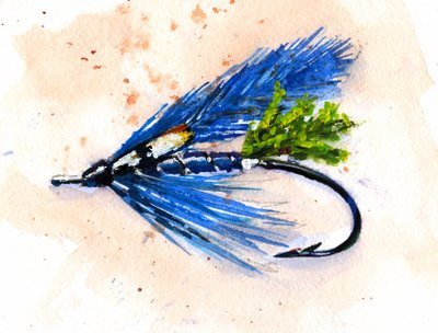 Daily Fly Tyer Header Fly Painted by Jeff Kennedy