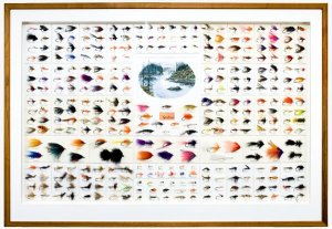 Framed steelhead flies from the book Flies for Steelhead