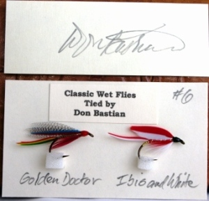 Don Bastian Silver Doctor and Ibis and White Wet Flies