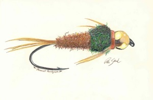 Pheasant Tail Nymph Pastel on Paper