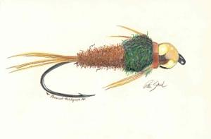 Pheasant Tail Nymph Pastel on Paper
