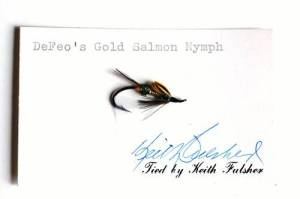 DeFeo's Gold Salmon Nymph - Keith Fulsher