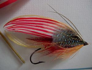 American Flag Salmon Fly-Framed-Royce Dam